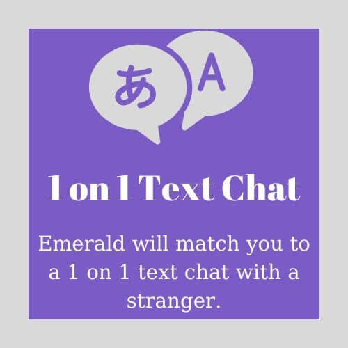 1 on 1 Text Chat on Emerald Chat